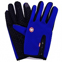Windproof Blue Riding Gloves For Men