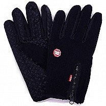 Windproof Black Riding Gloves For Men