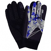 Camo Print Riding Gloves For Men - Blue
