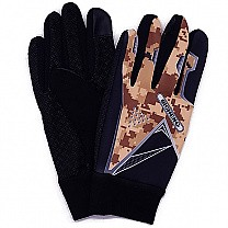 Camo Print Riding Gloves For Men - Brown