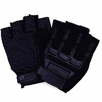 Half Size Riding Gloves For Men - Black