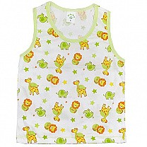 Green Cotton Sendo Vest For Baby (Size M & L)