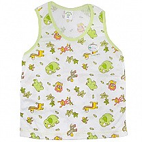 Green Cotton Sendo Vest For Baby (Size XL)
