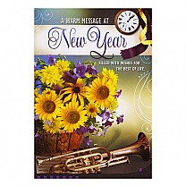 A Warm Message At New Year - Greeting Card
