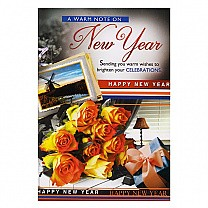 A Warm Note On New Year - Greeting Card