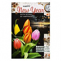 Happy New Year With Scores Of Happiness - Greeting Card