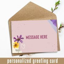 Your Own Message Print Personalized Greeting Card