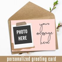 Photo And Message Personalized Card