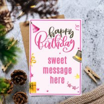 Happy Birthday Personalized Card With You Message