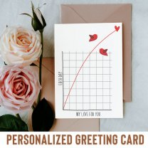 Each Day My Love For You Greeting Card