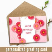 Personalized Greeting Card With Your Sweet Message