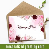 Your Message In Personalized Greeting Card