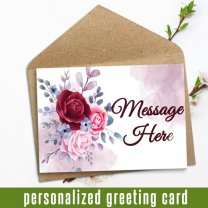 Personalized Card With Your Message