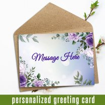 Your Personal Message Written In Card