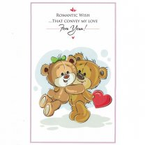 Romantic Wish...That Convey My Love For You - Greeting Card