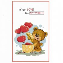 In You, Love ...Lies My World - Greeting Card