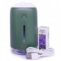 Portable Ambient Light H2O Humidifier - Green