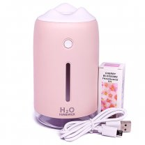 Portable Ambient Light H2O Humidifier - Pink
