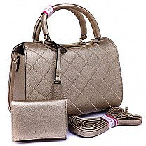 Susen Gold Ladies Hand Bag With Purse