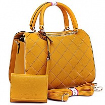 Susen Yellow Ladies Hand Bag With Purse
