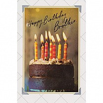 Happy Birthday Brother - Greeting Card
