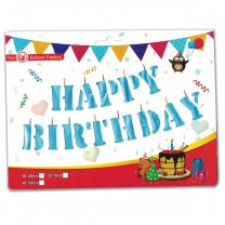 Happy Birthday Colorful Foil Balloon Banner - 13 pcs (16'')