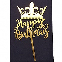 ''Happy Birthday'' Crown Cake Topper