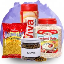 Kismis With Oats, Bhujia & Viva Health Drink