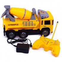 Remote Control Concrete Mixer Truck For Kids (6+ Years)