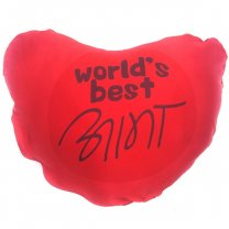 Heart Shaped World's Best Aama Cushion (Red)