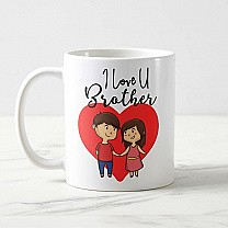 """I Love U Brother"" Printed Mug"