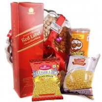 JW Red Label, Masala Tray and Snacks (5 items)