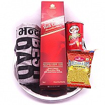 JW Red Label, T-shirt & Snacks Gift Steel Tray