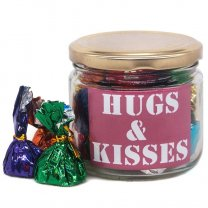 Hugs & Kisses Message Candy Jar 70g