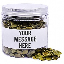 Raw Pumpkin Seeds In Personalize Message Jar - 200gm