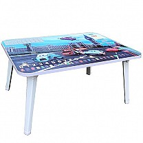 Compact Foldable Study Table For Kids (Cars)