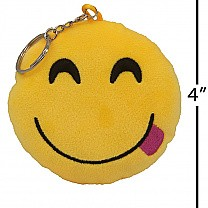 Smiling Face With Tongue Emoji Keyring (4 inch)