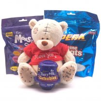 Teddy Bear & Chocolate Gift Pack