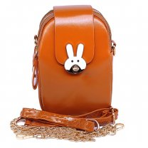 Korean Style Small Back Pack Cross Body Bag - Fire Yellow