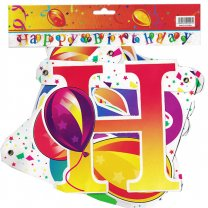 Colorful 'Happy Birthday' Letter Banner 13 Pcs (Design-3)