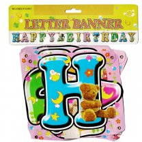 Colorful 'Happy Birthday' Letter Banner 13 Pcs (Design-1)