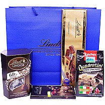 Lindt & Loacker Dark Chocolate Combo in Carrying Bag