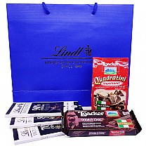 Lindt Excellence Dark Chocolate With Loacker Wafers in Bag