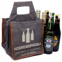 Nobrewophobia Beer Caddy With Six Imported Beer