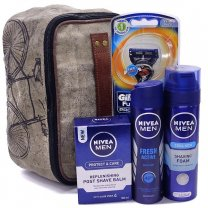 Nivea Men Gift Combo With Mona B Dopp kit