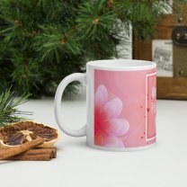 """""""Flower Print"""" Personalized Mug With Your Message"""