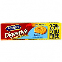 McVitie's Digestive Light Biscuits 500g (25% Extra Free)