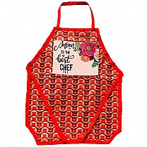 ''Mom is The Best Chef'' Printed Kitchen Apron