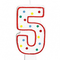 Five Number Candle For Cake
