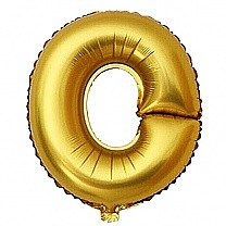 "Foil Balloon Alphabet ""O"" - Bright Golden"
